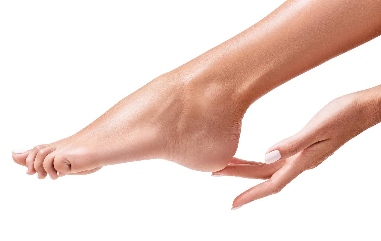 Hand Finger Touching Heels