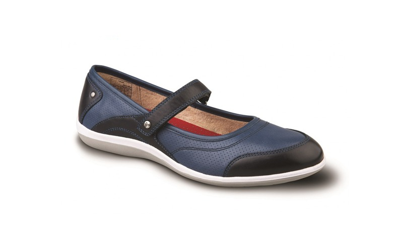 blue and black adelaide shoe