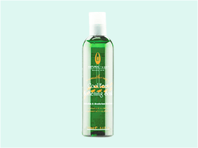foot care product green bottle
