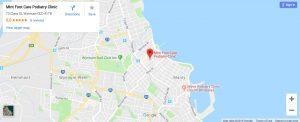 Mint Foot Care Location Map: 73 Clara Street, Wynnum, Brisbane, Queensland 4178
