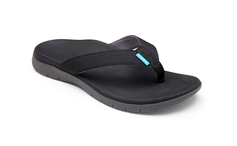 islander mens black thongs